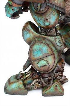 """This is the original """"CHUBBY"""": Bandai's plastic Votom Fatty Ground Custom"""" scratchbuild conversion by Luca Zampriolo you can see in AMMO. Painting Tips, Figure Painting, Painting Techniques, Warhammer Paint, Warhammer Models, Minis, Modeling Techniques, Warhammer 40k Miniatures, Paint Effects"""