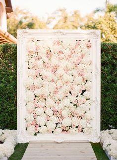 framed floral photo backdrop