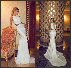 Find More Wedding Dresses Information about Vestidos de casamento Dimitrius Dalia Mermaid Wedding Dress 2014 Beaded Sequins Romantic Sexy Backless Bridal gowns,High Quality Wedding Dresses from Dreamyfashion on Aliexpress.com