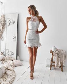 Lilo Dress - White – Twosister's The Label Short Lace Dress, Short Dresses, Prom Dresses, Wedding Dresses, Graduation Dresses, Prom Dress Shopping, Online Dress Shopping, White Lace, Outfits