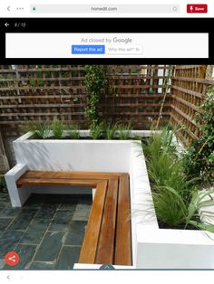 Concrete block rendered planter — BBC Gardeners' World Magazine Built In Garden Seating, Backyard Seating, Backyard Patio, Backyard Landscaping, Landscaping Ideas, Back Garden Design, Backyard Garden Design, Bbq Area Garden, Balcony Garden