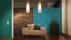 Vliestapete Barock türkis blau livingwalls 95691-5