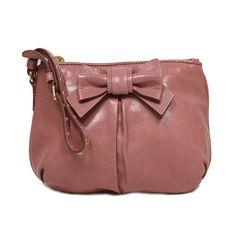 Authentic Miu Miu Prada Vitello Light Pink Leather Bow Wristlet Evening Clutch Bag 5N1681 USA Shipped