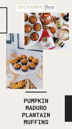 """These Pumpkin + Maduro Plantain Muffins are far from basic! They're a delicious combination of two classics – pumpkin muffins and delicious ripe plantains. These are perfect for adding a little Miami spice to the very trendy """"pumpkin everything"""" trend. Miami Spice, Ripe Plantain, Cereal, Muffins, Spices, Pumpkin, Breakfast, Healthy, Sweet"""