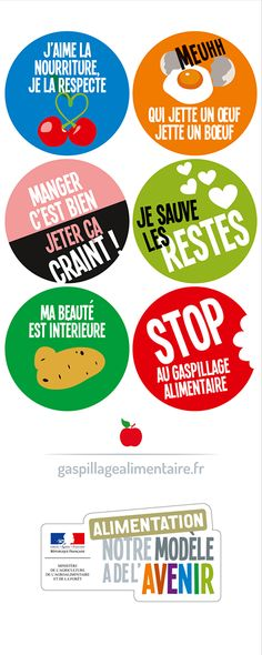 Stop food waste - sentences in French - Gaspillage alimentaire en français -  good visual to generate discussion on Earth Day - le jour de la Terre