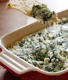 Recipe for Lighter Hot Spinach and Artichoke Dip
