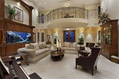 Interior of luxury home in Lighthouse Point, Florida