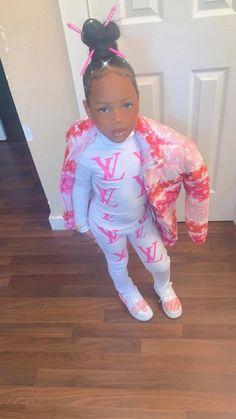 Little Girl Swag, Cute Little Girls Outfits, Kids Outfits Girls, Toddler Girl Outfits, Cute Mixed Babies, Cute Black Babies, Cute Kids Fashion, Little Girl Fashion, Black Baby Girls