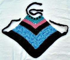 HECTANOOGA PATTERNS: FREE crochet pattern, V point Halter top, make any size