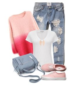"""""""Ripped jeans"""" by soleuza ❤ liked on Polyvore featuring Abercrombie & Fitch, WithChic, James Perse, Vans and Monsoon"""