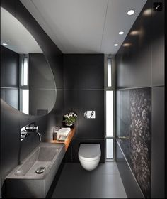 large size tiles in small bathroom