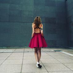 Magenta felt skirt by Sweet Revenge Revenge Fashion, Sweet Revenge, Magenta, Felt, Street, Skirts, Clothes, Dresses, Vestidos