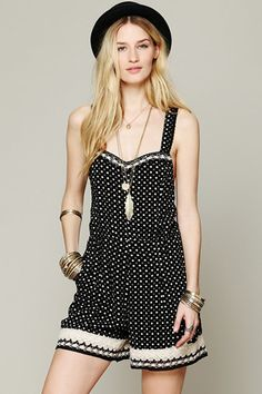 FREE PEOPLE CROCHET DOT ROMPER, $69.95, AVAILABLE AT FREE PEOPLE.