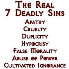 The Real 7 Deadliest Sins