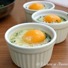 oua si spanac Egg Recipes, Baby Food Recipes, Dessert Recipes, Cooking Recipes, Healthy Recipes, Good Food, Yummy Food, Romanian Food, Breakfast Recipes