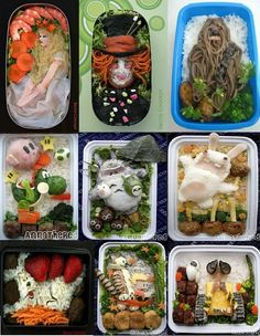 Bento, Japanese lunch art. Wonder what they do for supper?