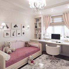 Teen Girl Bedrooms demo - An exceptional take on teen room decor inspirations and examples. For extra exceptional decor explanation simply jump to the image link right now Girl Bedroom Designs, Girls Bedroom, Bedroom Decor, Master Bedroom, Bedroom Lighting, Kids Room Bed, Girl Room, Kid Rooms, Girl Nursery