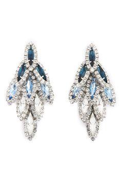 Jessica (Dress 1) - Rent the Runway - Elizabeth Cole Aqua Ombre Bacall Earrings