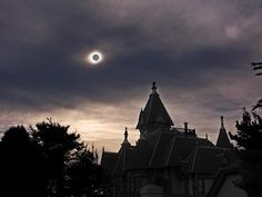 For a spooky Halloween, we suggest creeping by the Carson Mansion in Old Town Eureka, CA.Photo taken by Becque and Edward Olson during the May 20, 2012, ring of fire solar eclipse.