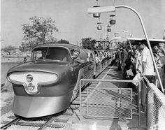 Walt Disney at the controls of the Viewliner train, which ran between Fantasyland and Tomorrowland. Walt Disney, Disney Theme, Disney Love, Disney Magic, Disney Parks, Disney Stuff, Disney Dudes, Disney Humor, Disney Bear