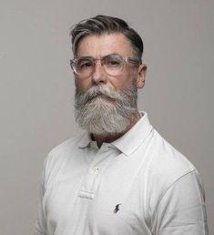 40 Winning Grey Hair Styles For Men - Buzz 2018 Beard Styles For Men, Hair And Beard Styles, Hair Styles, Beard Haircut, Mustache Styles, Grey Beards, Beard Model, Men With Grey Hair, Beard Grooming