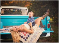 The Sweet Little Southern Charm by Tara Miller mother son photography Chevy truck country