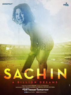 Sachin A Billion Dreams Movie Star Cast & Crew, Release Date, Story and Budget Wiki. Upcoming Bollywood Movie Sachin A Billion Dreams First Look Poster, Images and HD wallpapers. Sachin Tendulkar New Movie Details Information Trailer Video and Story Audio Songs, Movie Songs, Hindi Movies, New Movies, Movie Film, Cute Poster, New Poster, Sachin A Billion Dreams, Biography Film