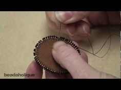 How to Bead Embroider a Picot Edge - YouTube