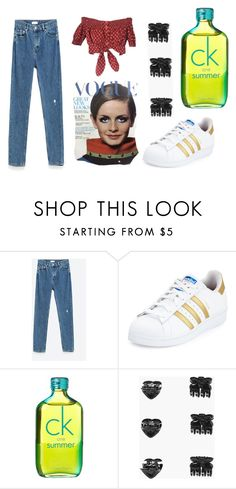 """""""Imogen and Ella's 90s concept outfit #2"""" by iceicebqby on Polyvore featuring Jakke, Gipsy, adidas, Calvin Klein and Boohoo"""