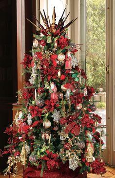 Decorated+foam+cones   Desktop Victorian Christmas Tree   How Did ...