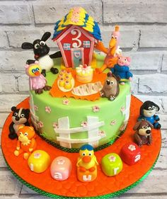 Timmy Time cake for Laura's birthday with her favourite characters from the show! Baby Birthday, 1st Birthday Parties, Birthday Cake, Timmy Time, Celebration Cakes, Christening, Birthdays, Cooking Recipes, Party Ideas