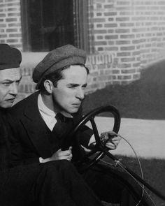 "margaretroses: ""Charlie Chaplin (right) and Carter DeHaven at Chaplin Studios, c. 1921. """