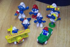 Smurf plastic/rubber figures!  I had a few.  I wanted more.