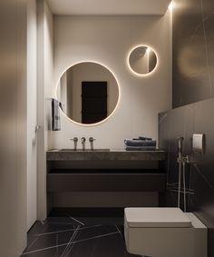 Modern Bathroom Mirror Ideas with Beautiful Frames - Pandriva Modern Bathroom Mirrors, Bathroom Mirror Lights, Large Bathrooms, Amazing Bathrooms, Bathroom Interior, Small Bathroom, Bathroom Renovations, Bathroom Inspiration, 3ds Max