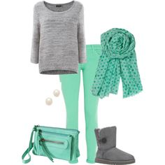 Cute winter outfit. Liked on polyvore