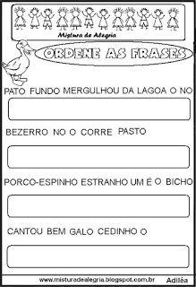 alfabetização Portuguese Lessons, Education, Writing Activities, Kids Activity Ideas, Sight Word Activities, Sentence Writing, Sentence Building, Pastor, Alphabet Soup