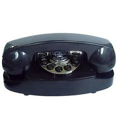 Corded Telephones: Black 1950S Vintage Reproduction Princess Retro Telephone Corded Desk Phone BUY IT NOW ONLY: $46.95