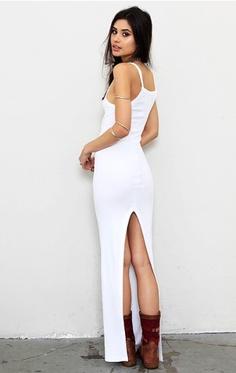 Long White Tank Dress
