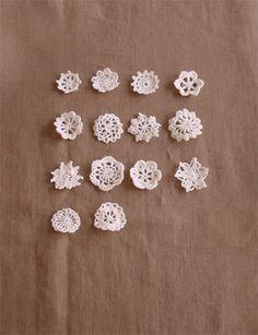 linnet crochet pattern リネン糸 編み図 編図 clover pattern at the same link