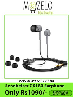 434fab53718 Mozelo Crazy Deal Sennheiser CX 180 Street II In-Ear Headphone (Black) in