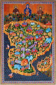Bülent Özgen - ASTANBOLU   TÜRKÂRİ Vintage Maps, Antique Maps, Ancient Maps, Istanbul Map, Istanbul Turkey, Fantasy Map Making, Byzantine Architecture, Turkish Art, Old Maps