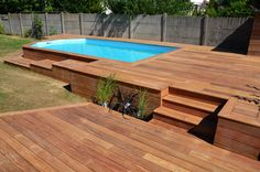 38 Inspiring Shipping Container Swiming Pool Design Ideas - 2020 Home design Above Ground Pool Decks, Above Ground Swimming Pools, In Ground Pools, Oberirdischer Pool, Swiming Pool, Shipping Container Swimming Pool, Pool Landscape Design, Small Backyard Pools, Outdoor Living
