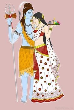 Lord Shiva And Goddess Parvati Photo