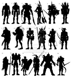 18 Silhouette Warrior archetype Concepts by pureluck13