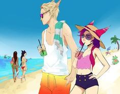 Day at the Beach by AkiDead