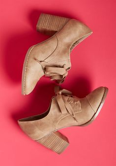 Ease and Authenticity Block Heel in Taupe