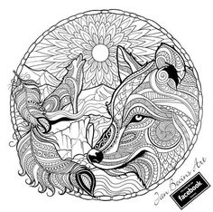 Lovely design adult wolf coloring pages for adults anime page free printable mandala is one of images from adult wolf coloring pages. Find more adult wolf coloring pages images like this one in this gallery Fox Coloring Page, Preschool Coloring Pages, Adult Coloring Book Pages, Mandala Coloring Pages, Christmas Coloring Pages, Animal Coloring Pages, Printable Coloring Pages, Coloring Pages For Kids, Coloring Sheets