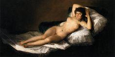 Francisco Goya La Maja nue(La Maja Desnuda) 1799-1800 huile sur toile 97 x 190 cm Museo del Prado, Madrid