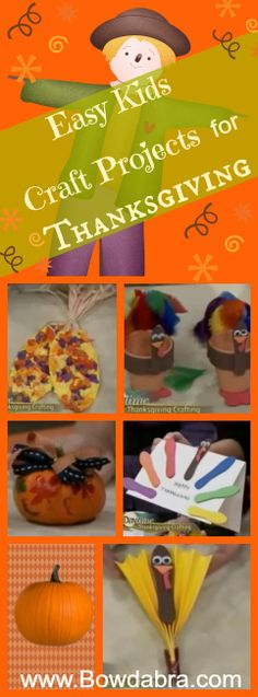 Fun Kid Crafts for Thanksgiving - make homemade thanksgiving table decor , thanksgiving napkin rings and much more .