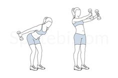 The dumbbell skier swing is a full body exercise that strengthens the glutes and hamstrings, tightens the core, and tones the quads, hips, shoulders, and arms. This exercise increases core strength and stability and helps to improve posture. http://www.spotebi.com/exercise-guide/dumbbell-skier-swing/